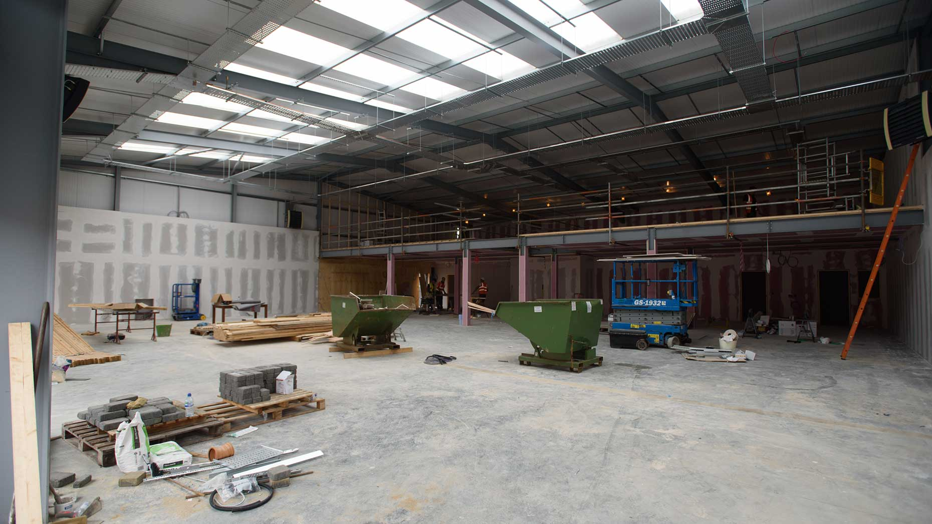 Building work is underway on site, behind the hall's shop and cafe.