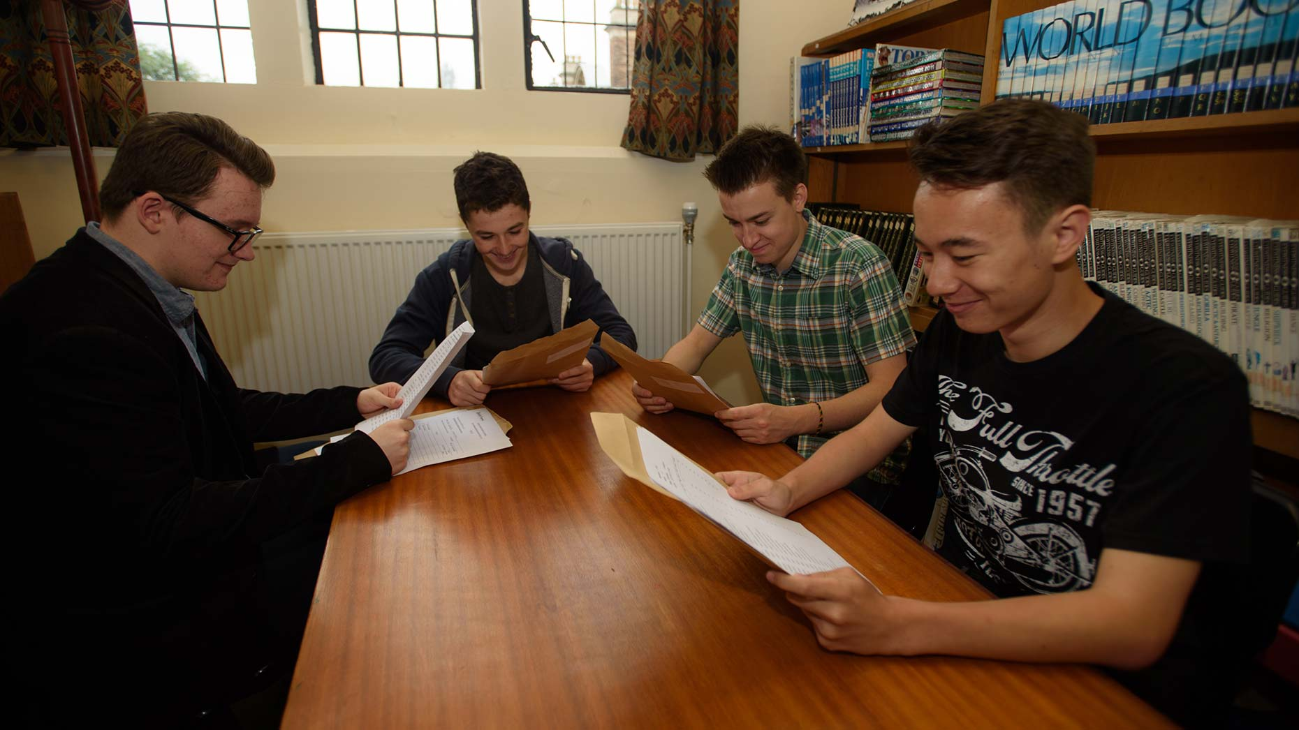 Jack Saunders, Luca Shepherd, Dylan Freestone and Stephen Cheung. Photo: Steve Smailes for The Lincolnite