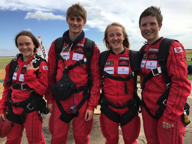 Year 12 students joined me at Langar Airstrip to skydive with the Red Devils