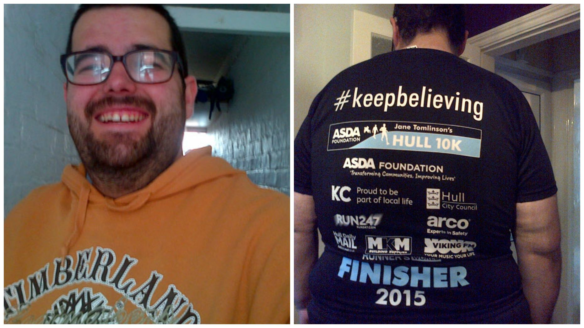 He's been raising money for charity alongside his weight loss.