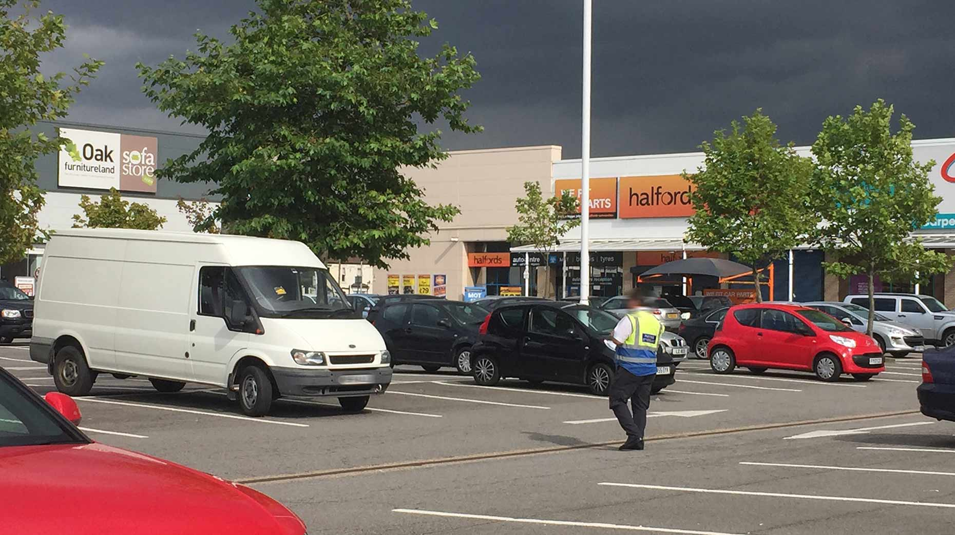 The car park operated by UKPC in the Tritton Retail Park. Photo: The Lincolnite