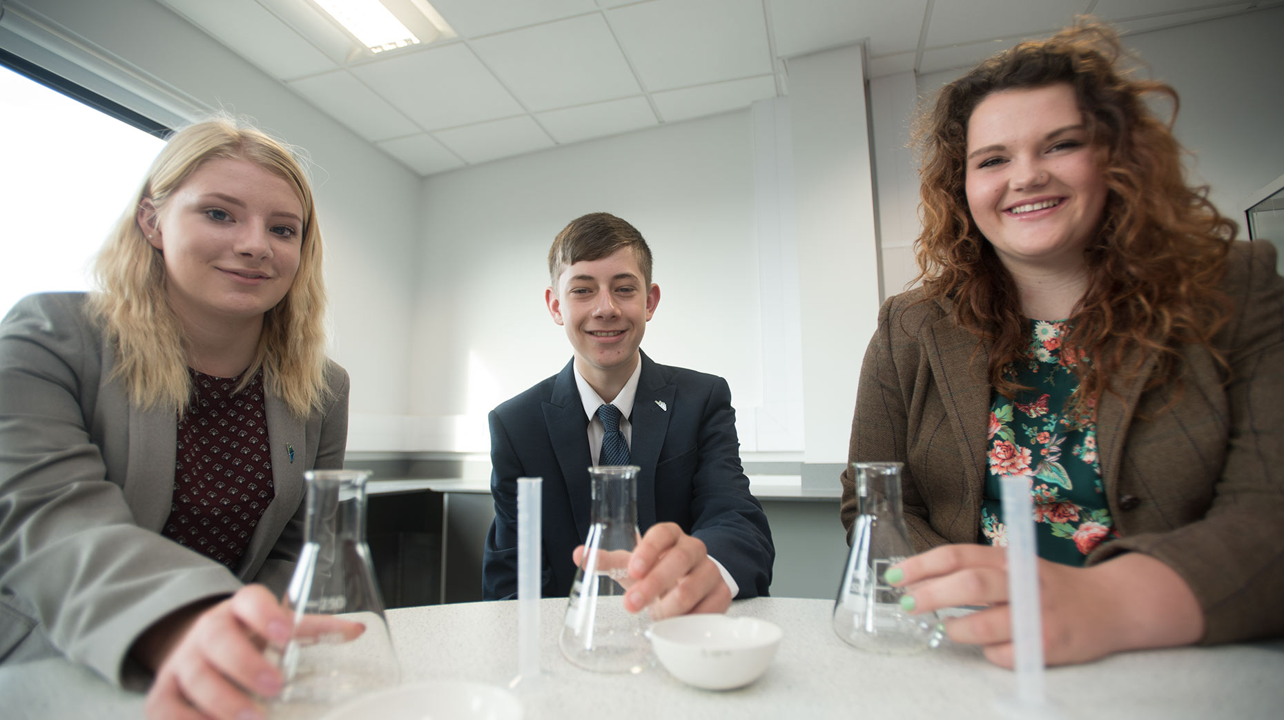 Hannah Kloed, Michel Homes and Molly-Mae Harrison. Photo: Steve Smailes for The Lincolnite