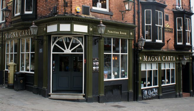 The fight took place at the Magna Carta pub on Exchequer Gate
