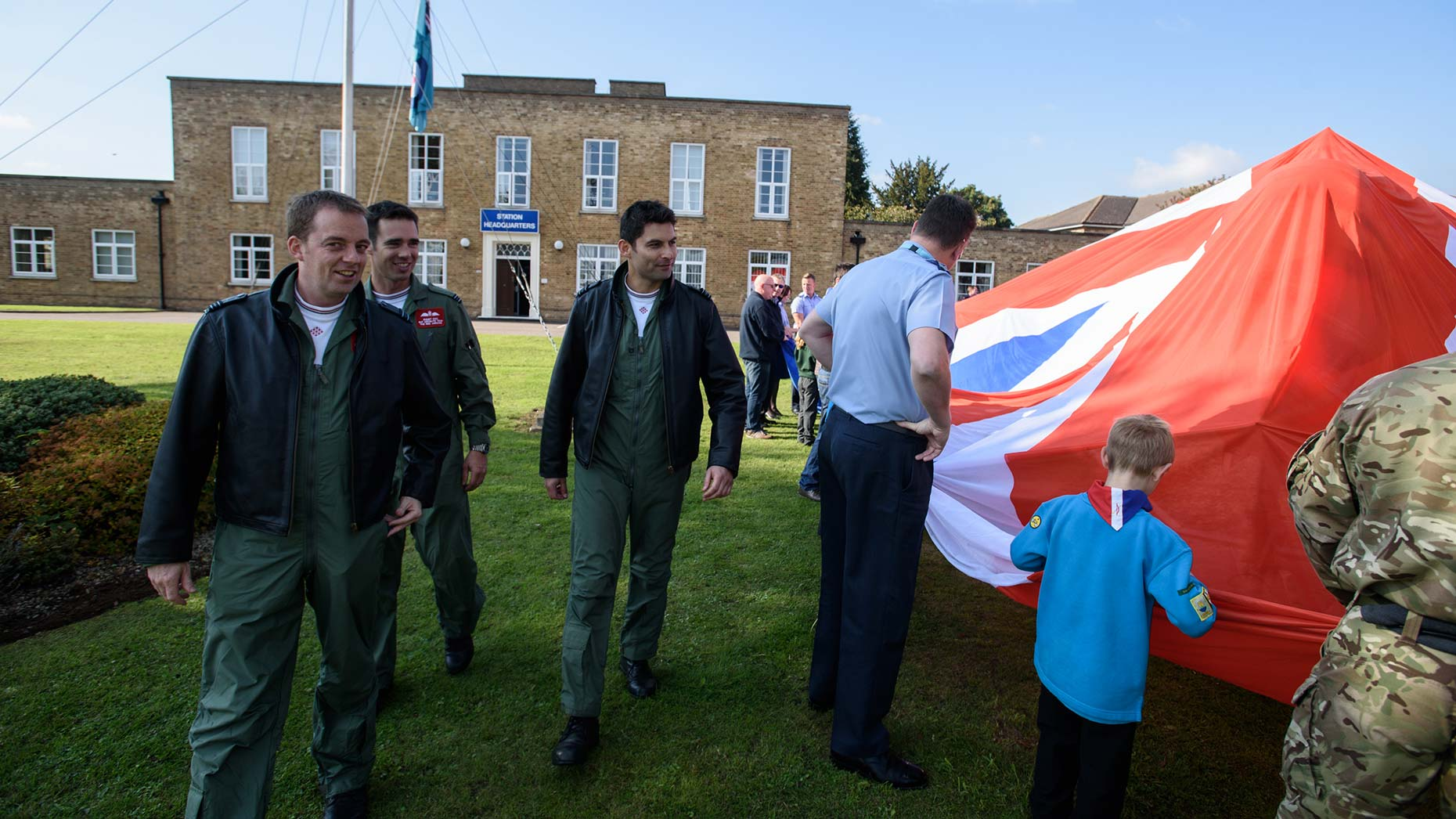 Red Arrows pilots joined the guests at the unveiling. Photo: Steve Smailes for The Lincolnite