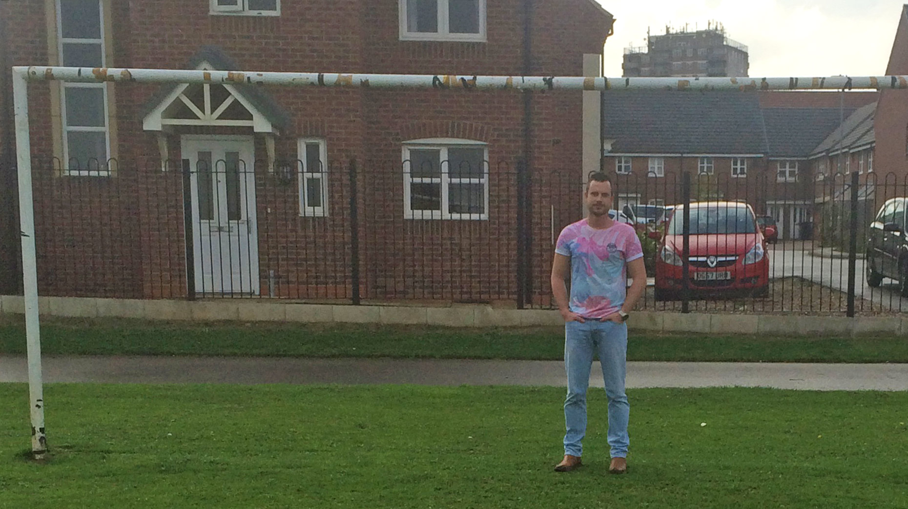 Daniel's house off Nene Road is now only metres away from the mouth of the goal.