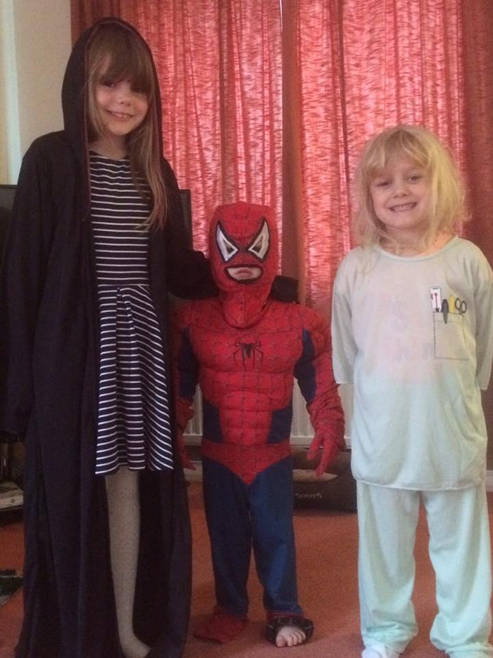 The kids dressed as their heroes.