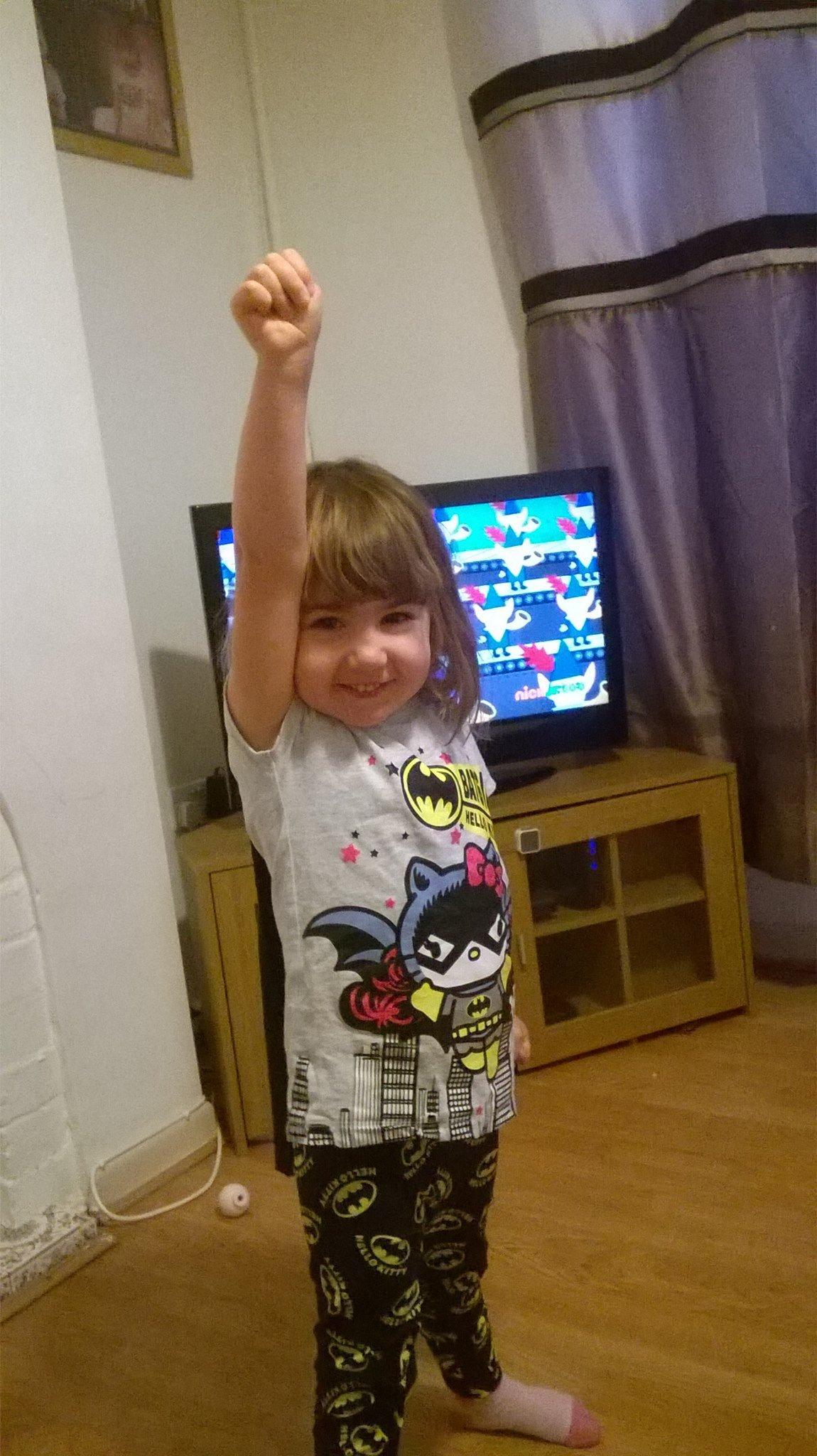 Bat girl on super hero day.