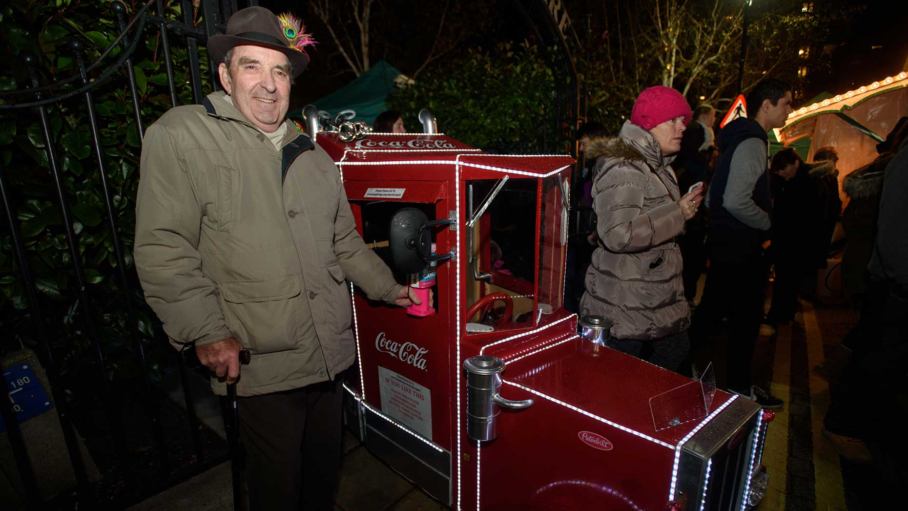 Barry Hall and his truck made an appearance at the switch on event. Photo: Steve Smailes for The Lincolnite