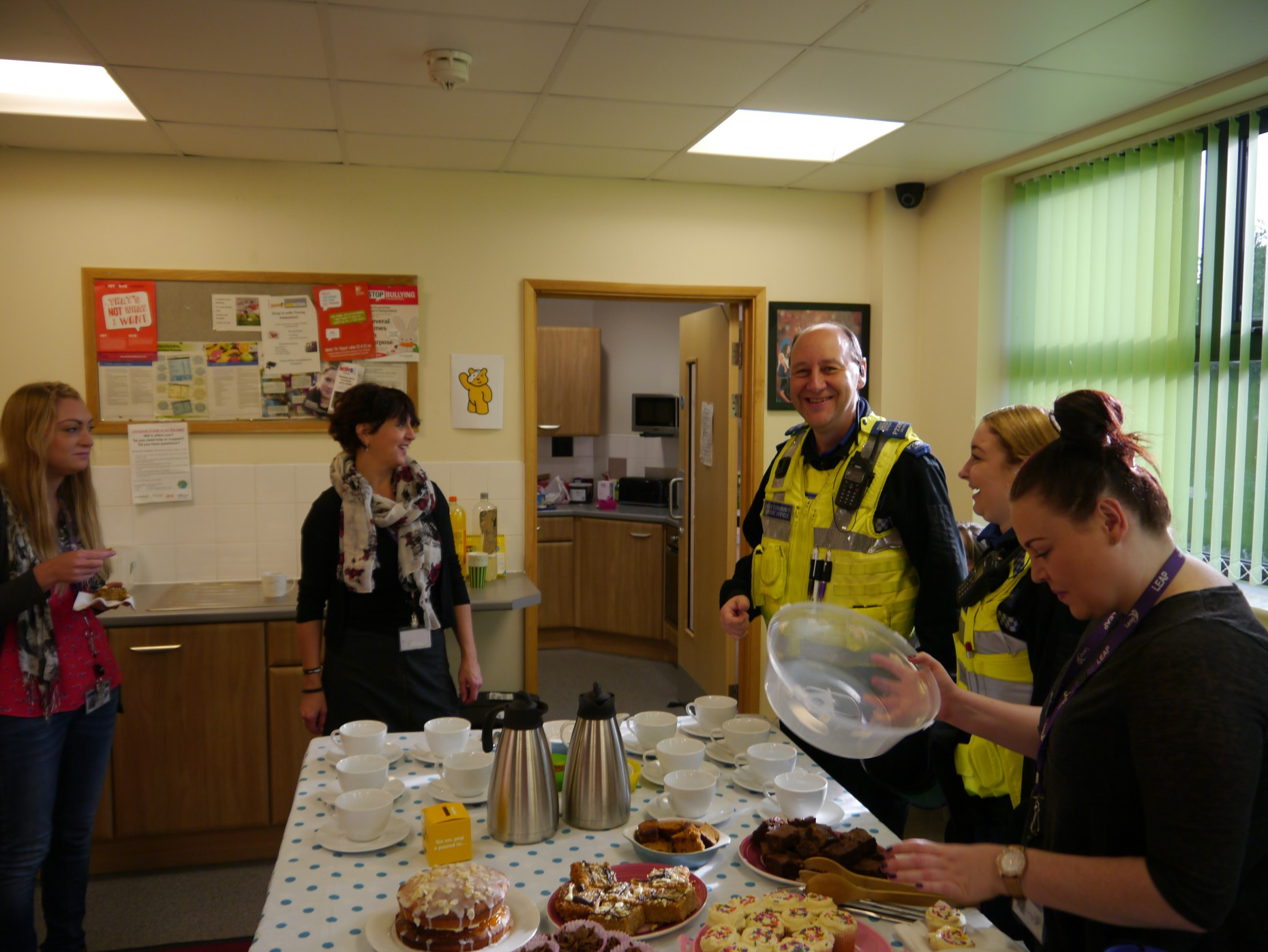 The LEAP coffee and cake morning raised over £30.