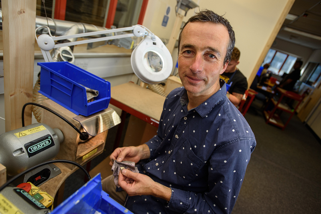 John Greed in his workshop in Lincoln. Photo: Steve Smailes for Lincolnshire Business.