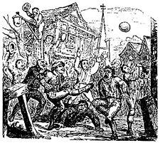 Illustration of mob football.