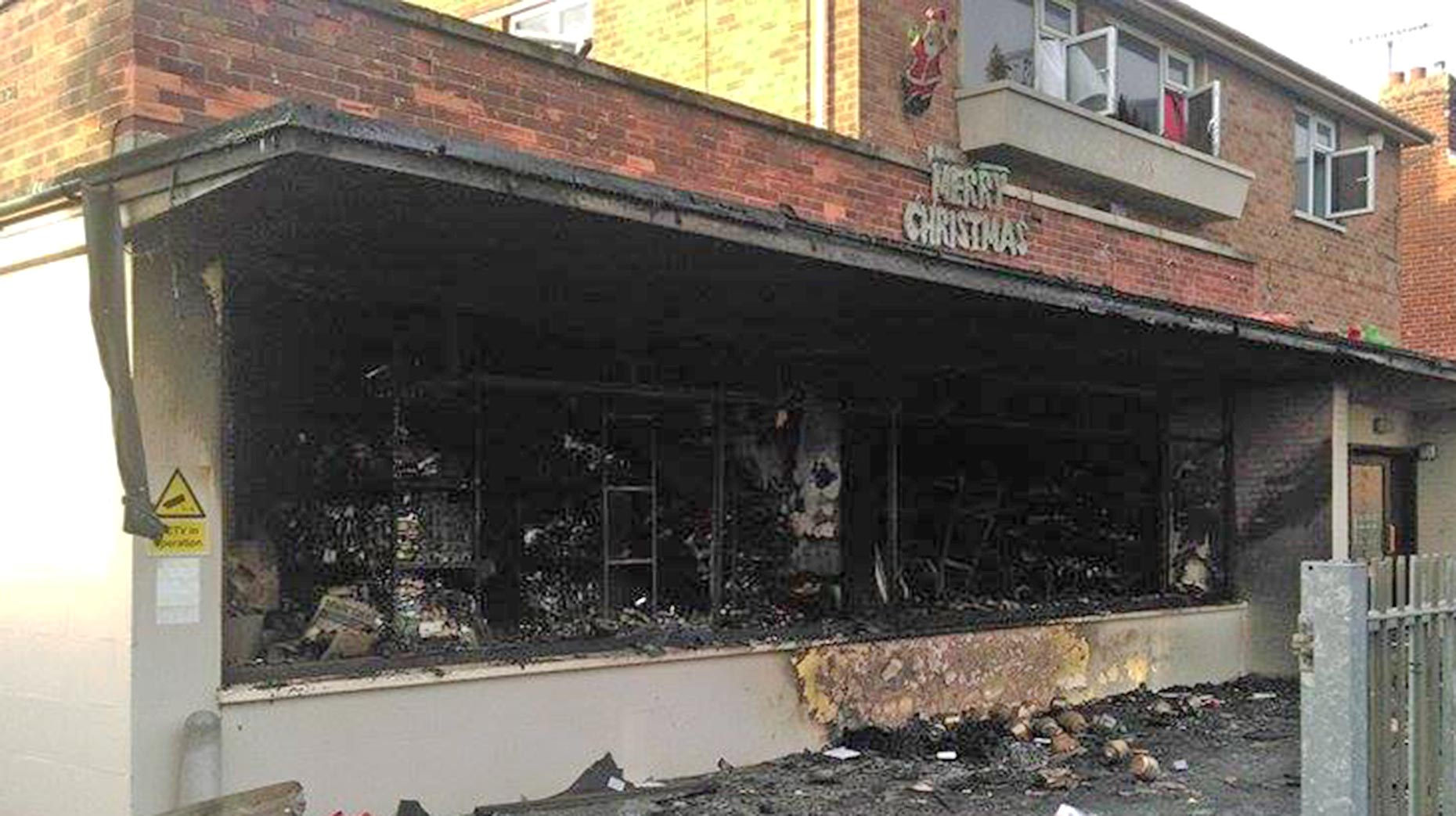 The scene on the morning of Tuesday, December 22 after the fire at the magic shop on De Wint Avenue. Photo: Stefan Pidluznyj