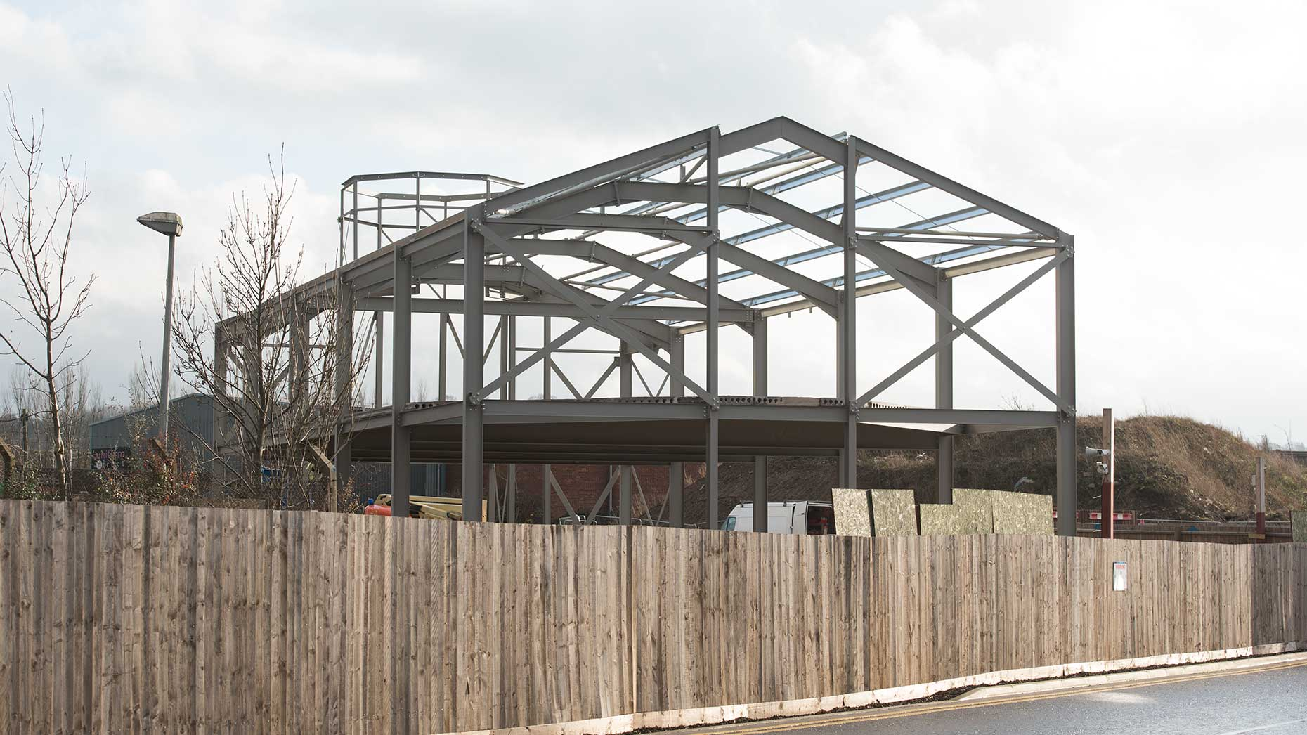 Construction work on the mosque has been temporarily put on hold. Photo: Steve Smailes for The Lincolnite
