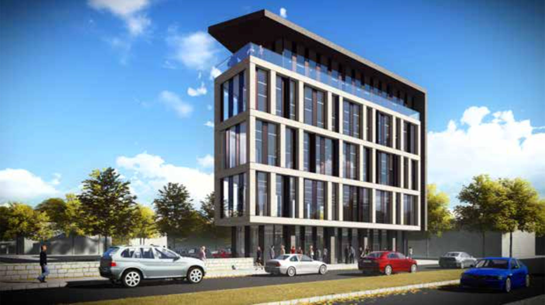 Proposed plot 1 offices. Artist impression: CPMG Architects Limited