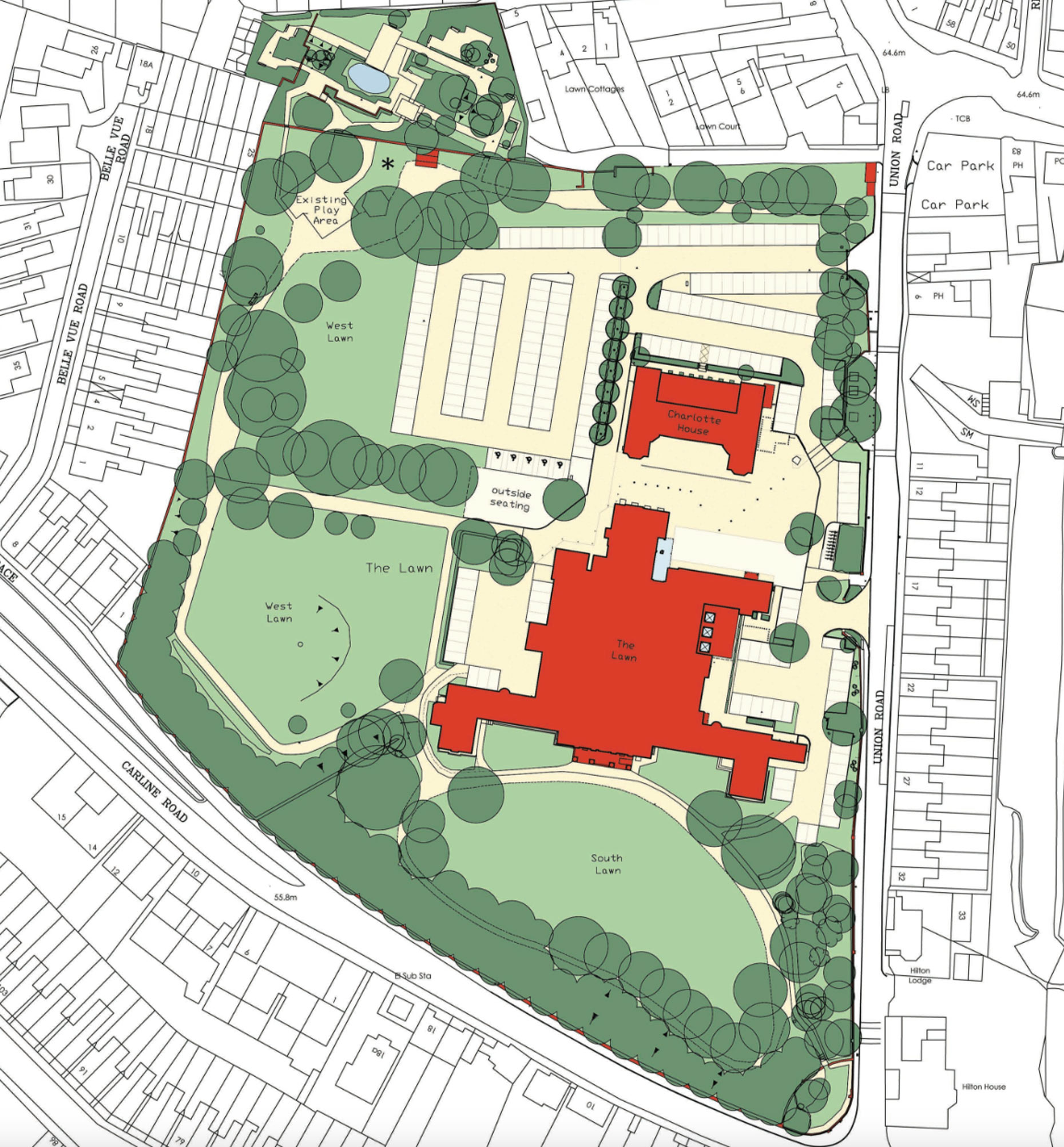 The proposed site plan, ahead of a finalised planning application.