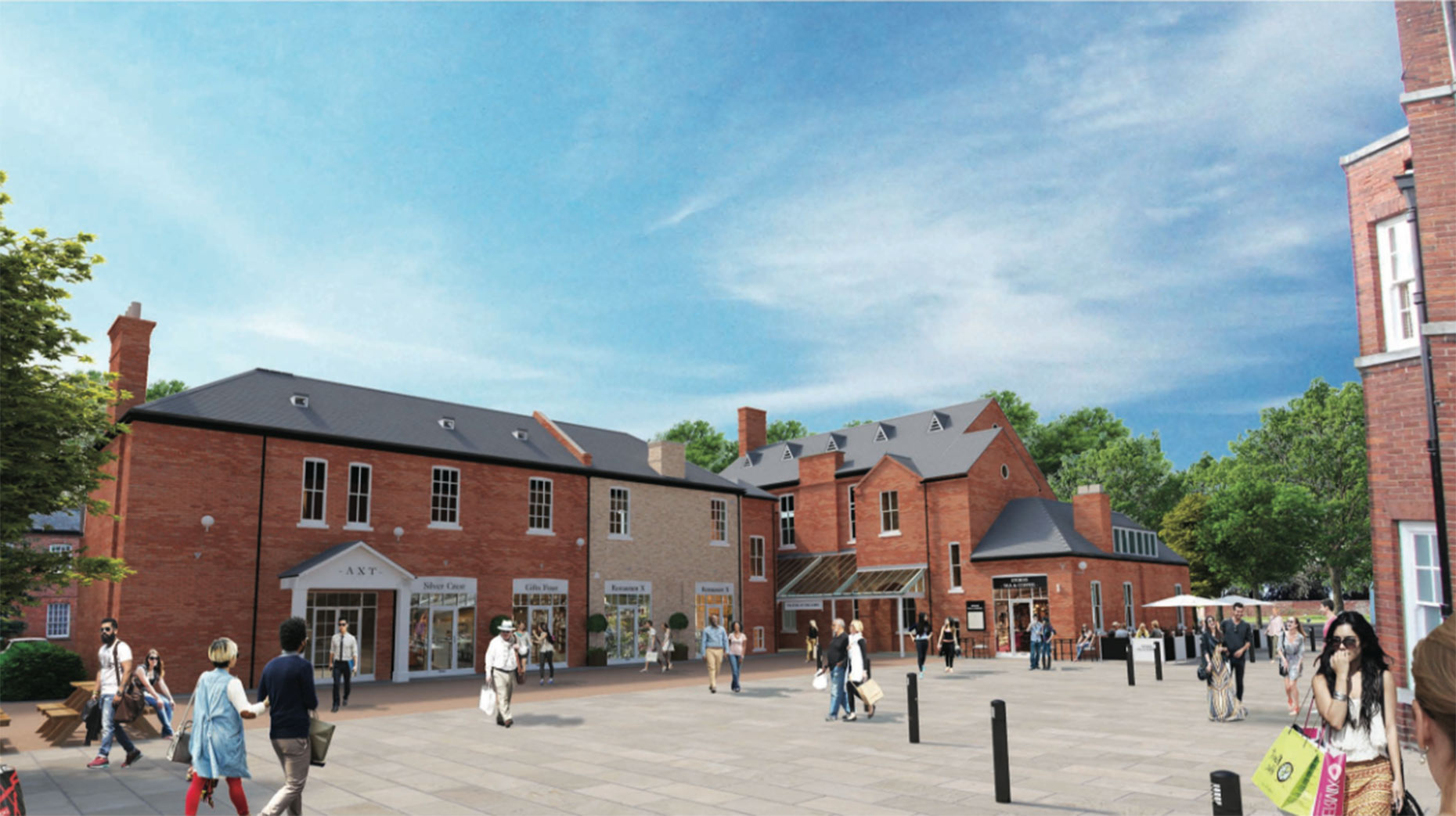 An artist's impression of how the main concourse between The Lawn and Charlotte House hotel would look under the first draft plans.