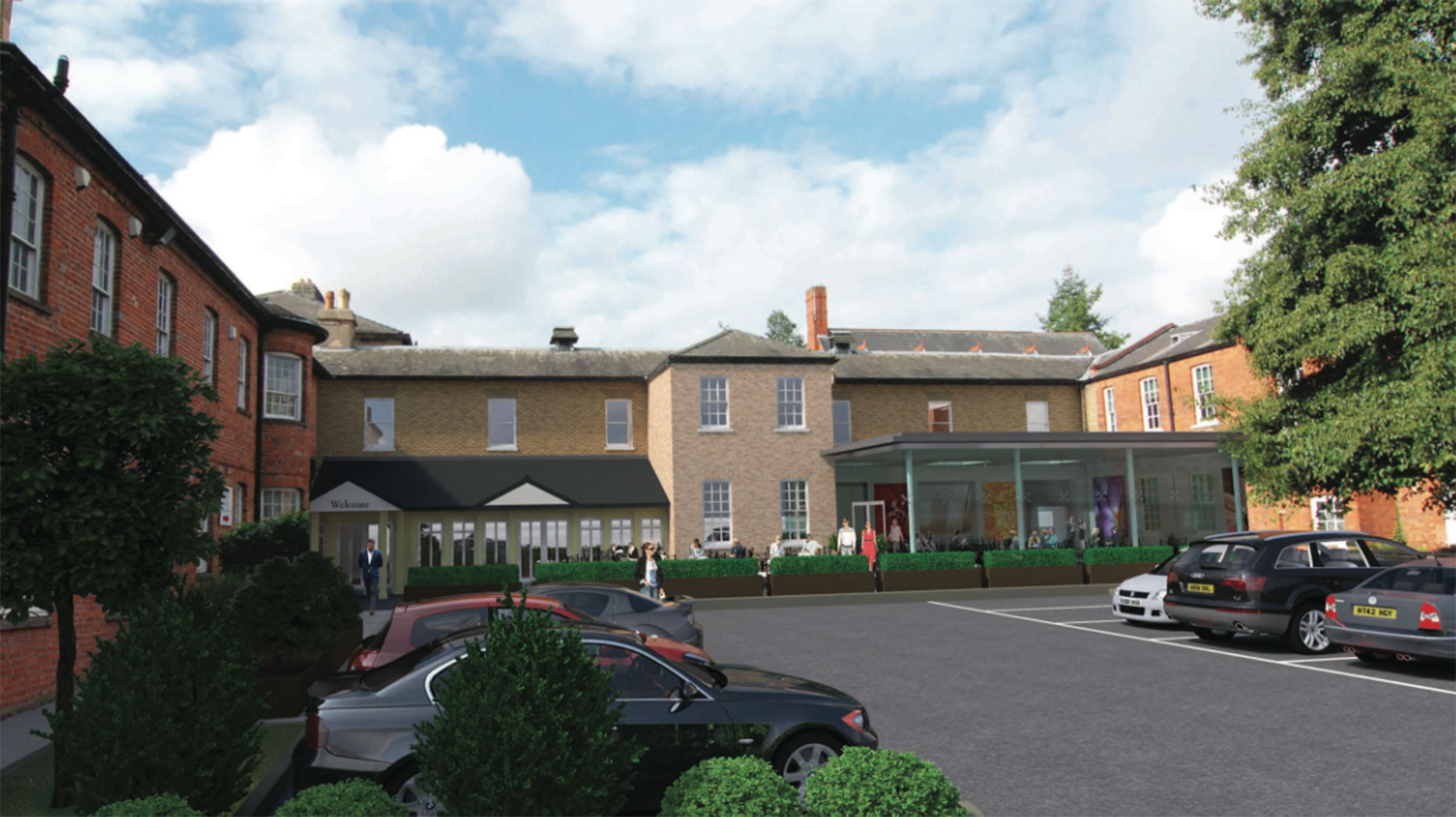 An artist's impression of how the East Wing of The Lawn would look under the proposals.