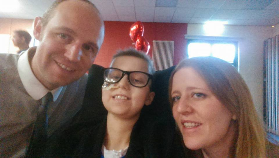 Family picture posted on Sophie's Cancer Journey