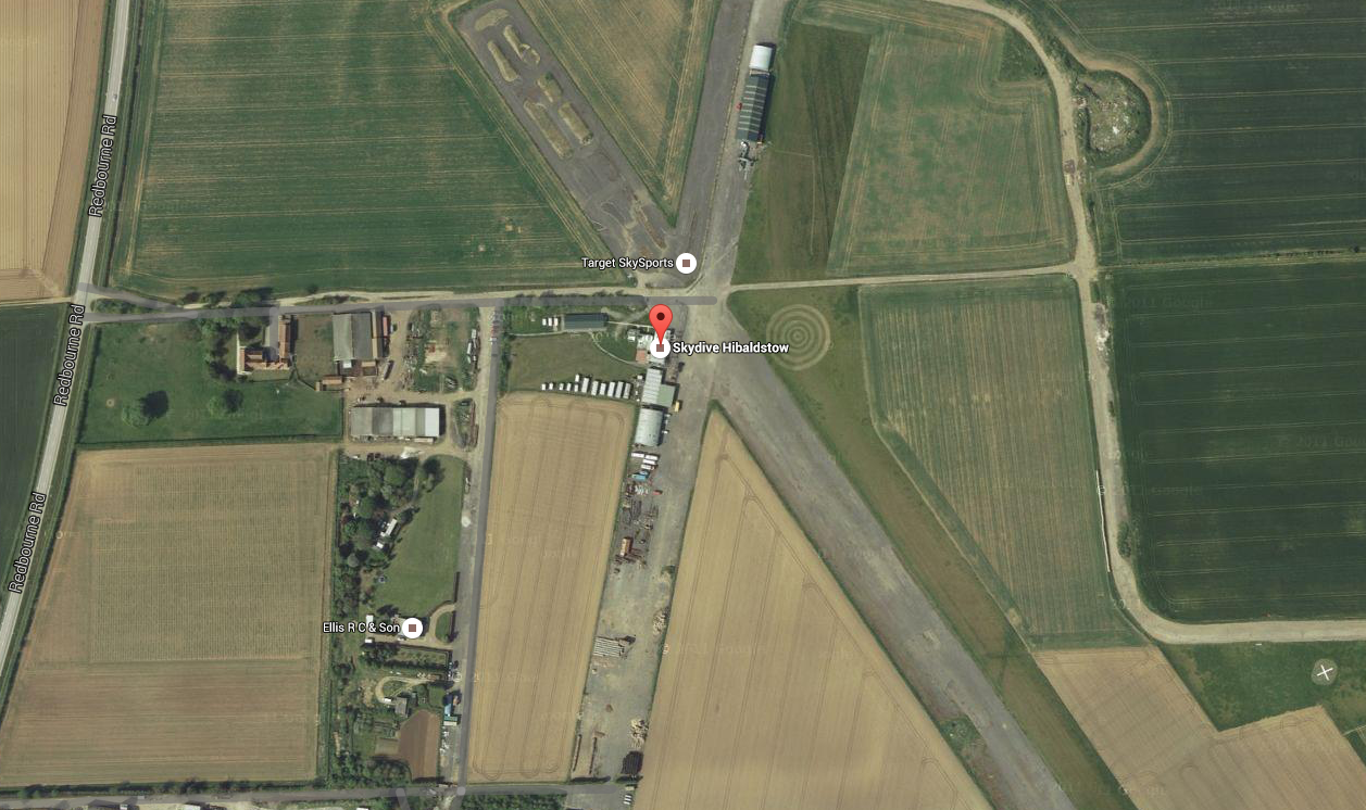 A bird's eye view of the base north of Lincoln. Photo: Google Maps