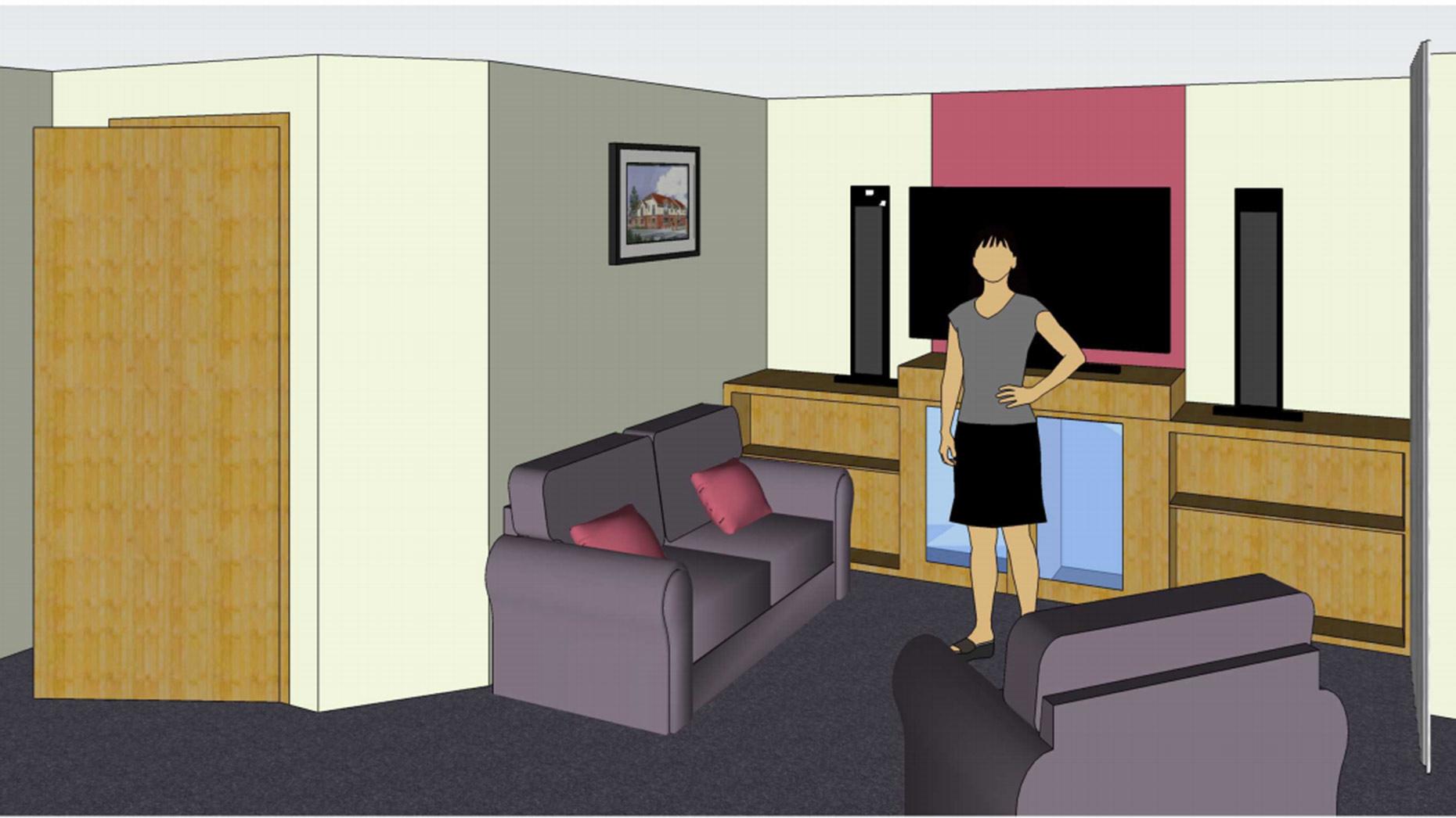 Inside the care home. John Halton Design Ltd