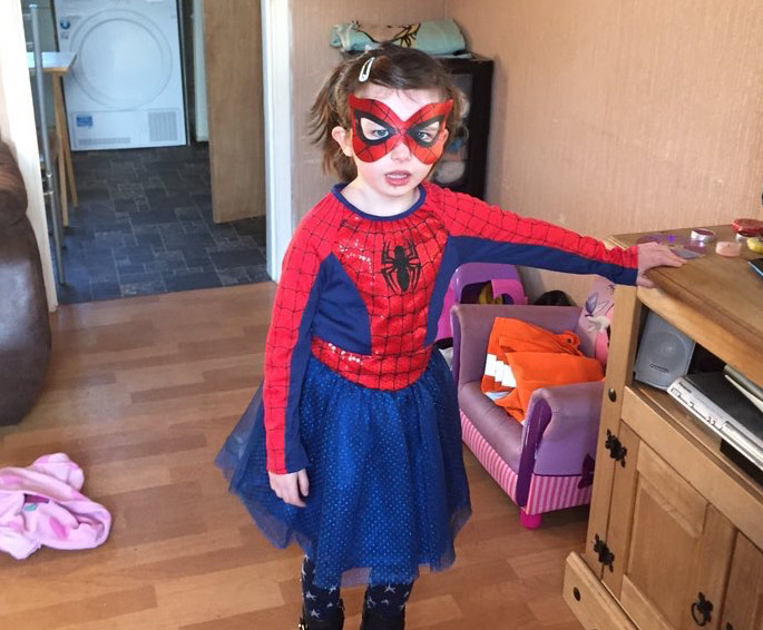 Spider Girl sent us her picture before making her way to school.