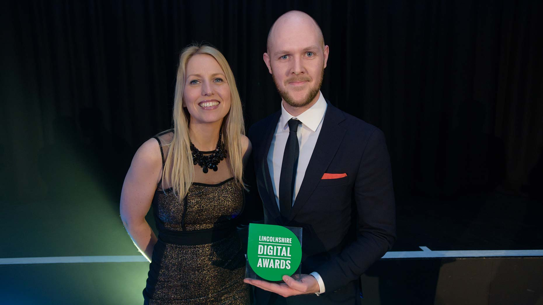 Shooting Star Director Kate Strawson presented the Best Digital Marketing Campaign award Liam O'Leary on behalf of The Creative Larder