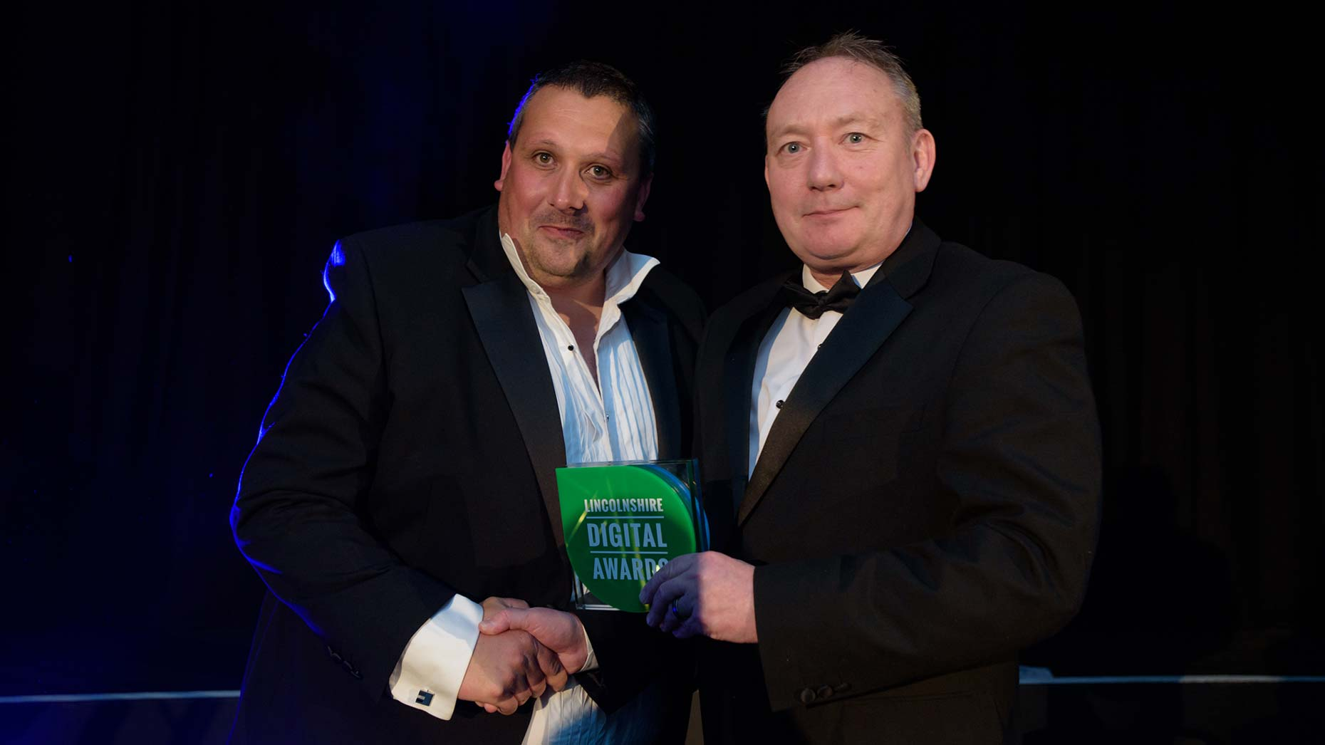 Software Europe CEO Neil Everatt presented the award for Best Digital Entrepreneur to Andrew Wood from Kal Group