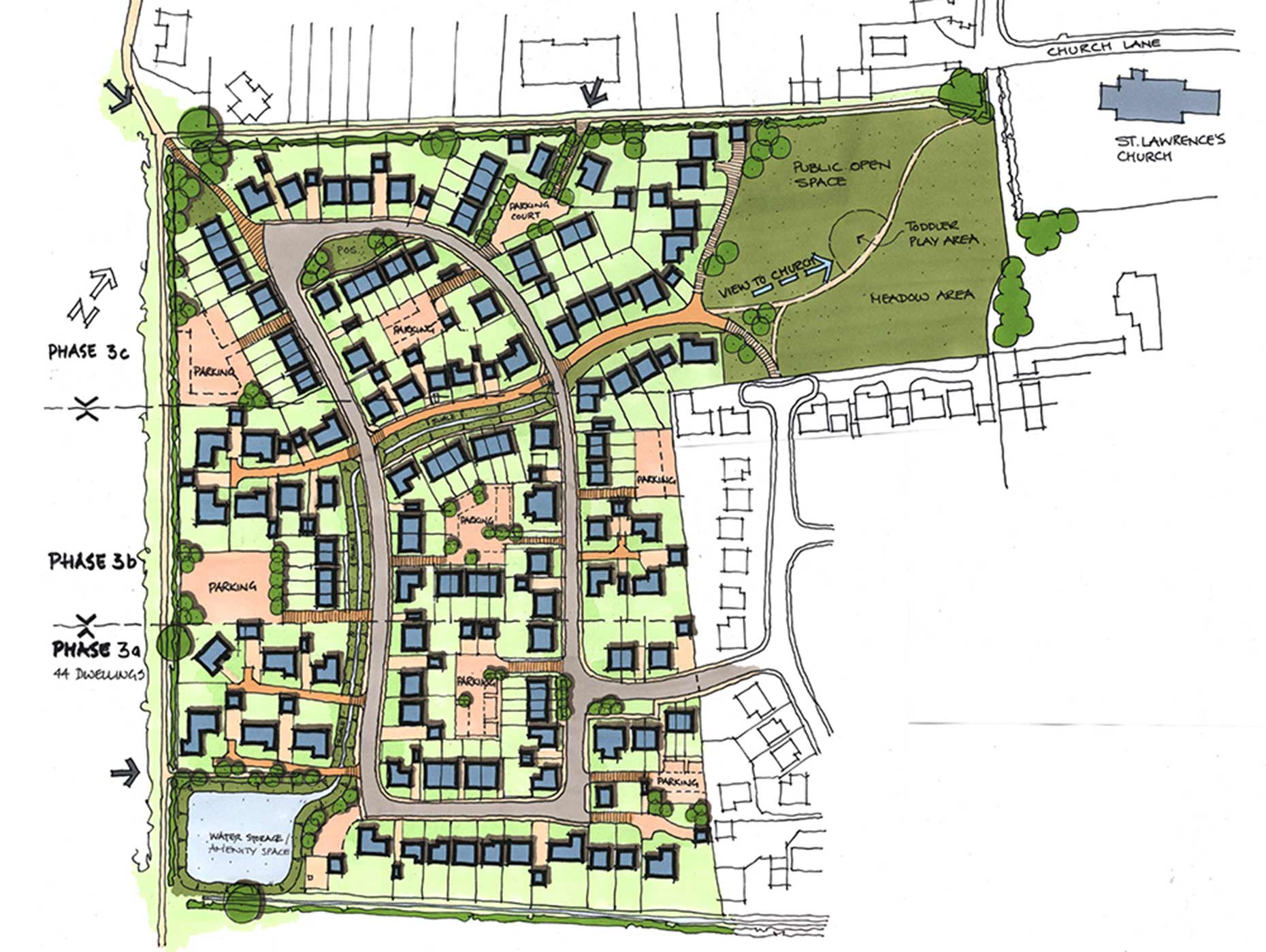 The masterplan for Manor Farm, Bardney