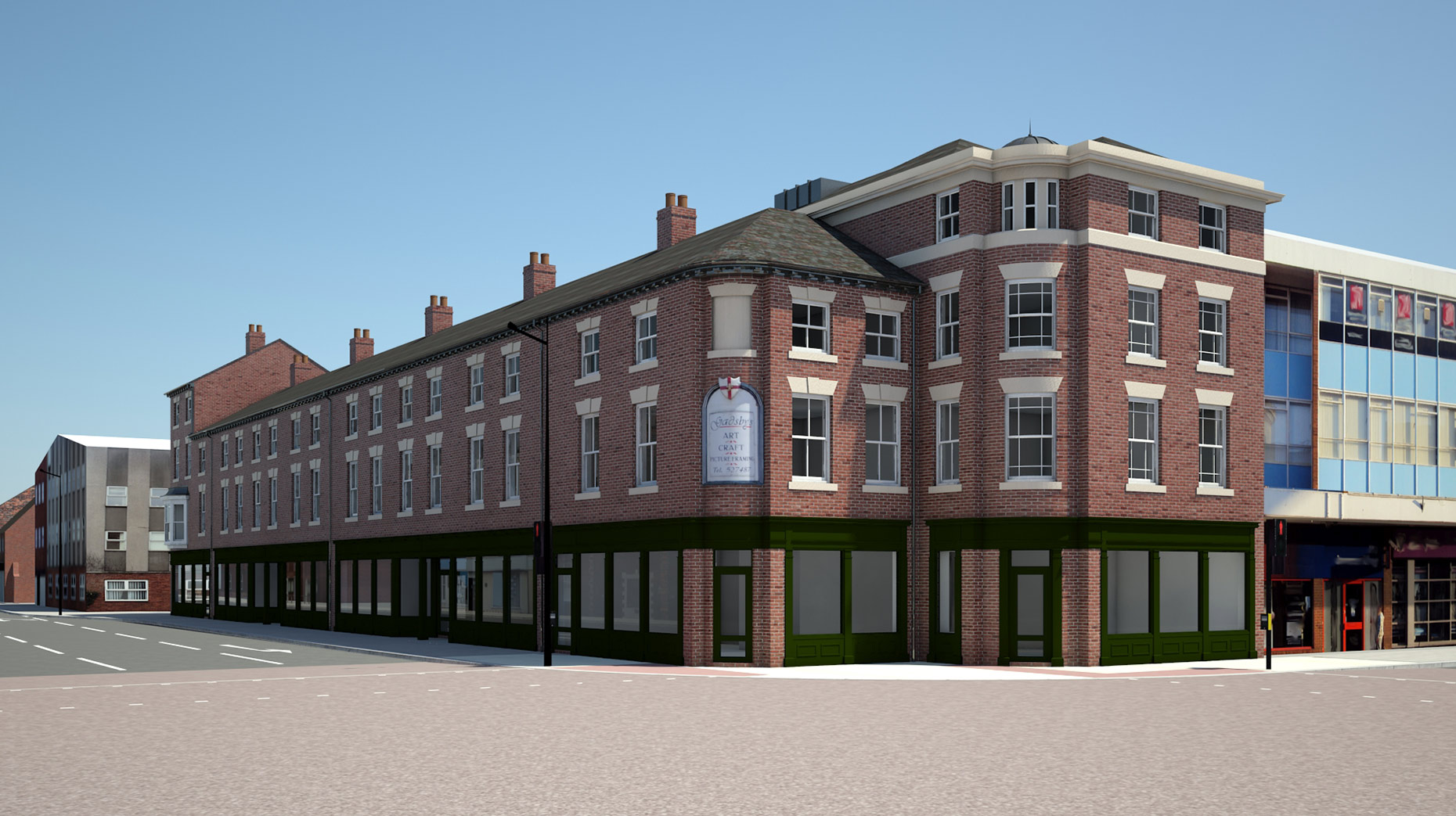 The new designs for Rose House of Lincoln High Street.