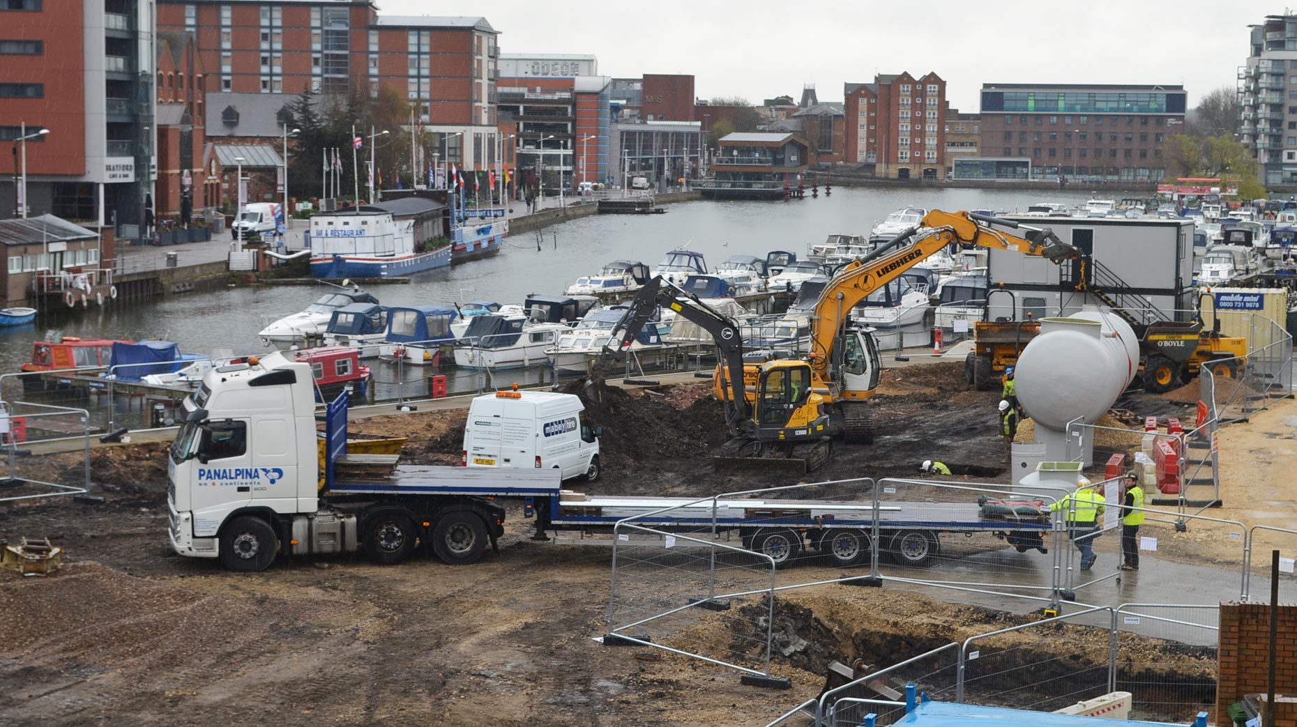 Clearing the site for the proposed new development. Photo: Emily Norton for The Lincolnite