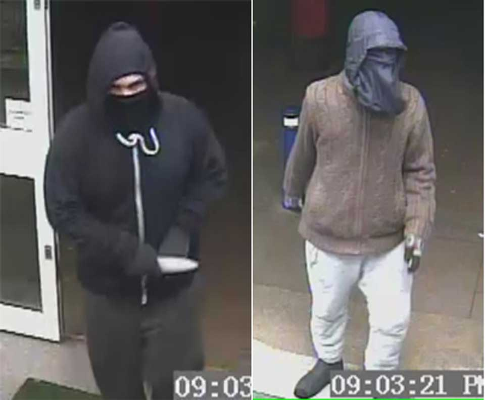 CCTV images from the robbery at the Co-op on Queen Elizabeth Road on March 13, 2016