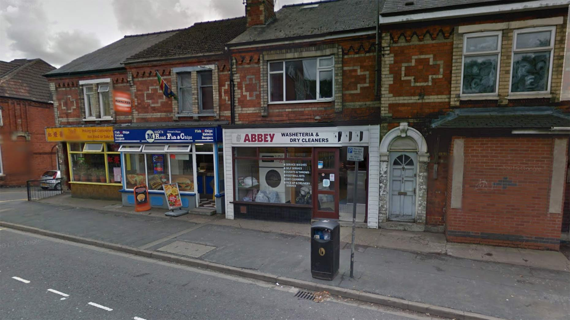 Police are treating the dry cleaners blaze as arson. Photo: Google Street View