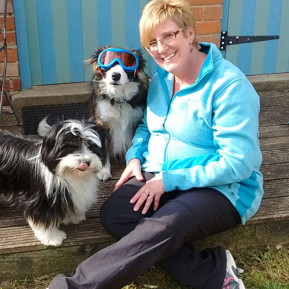 Joanne with Maya and her other dog Ruby