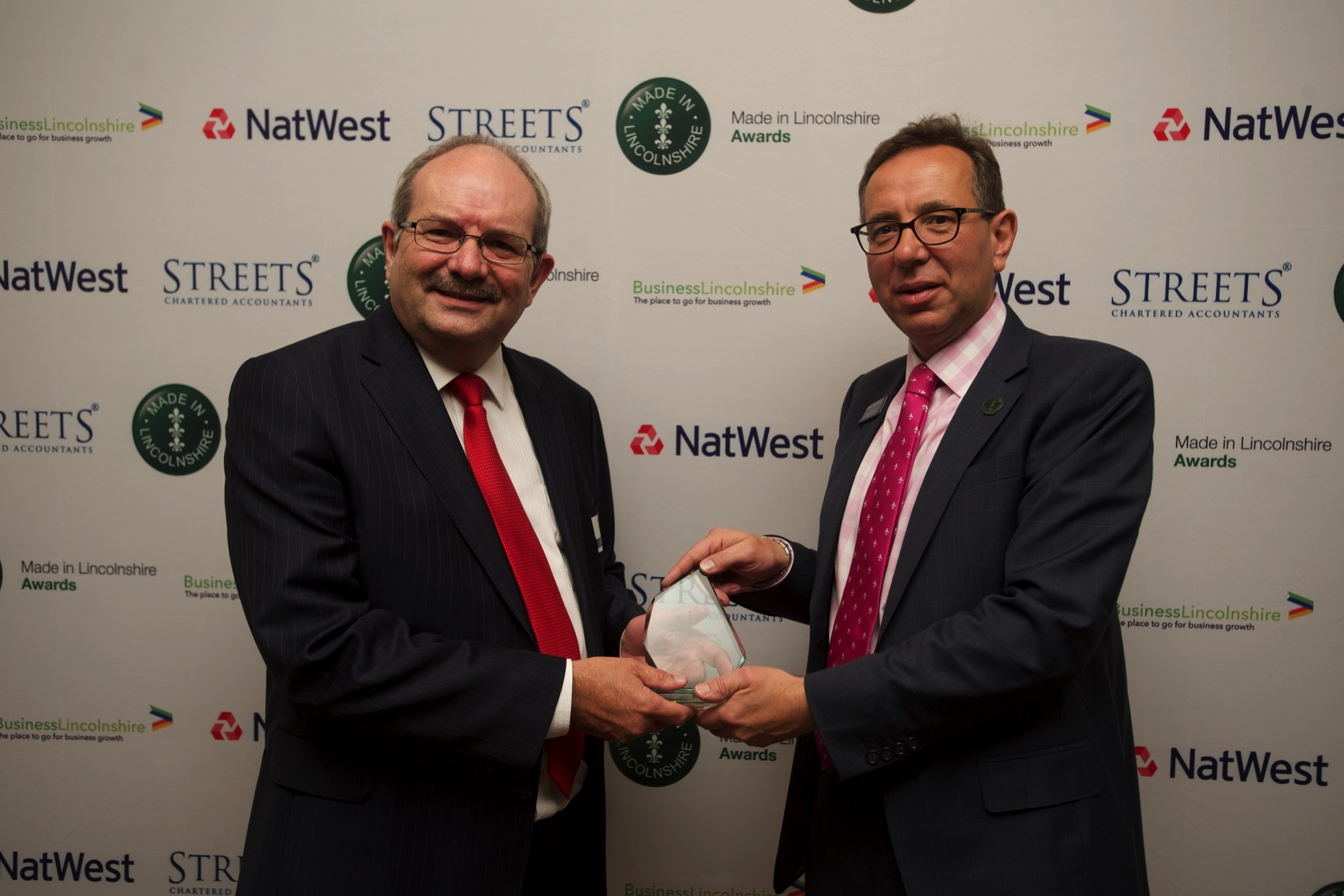 Made in Lincolnshire for Many Generations winner Lincat Ltd with James Pinchbeck, Marketing Partner at Streets Chartered Accountants