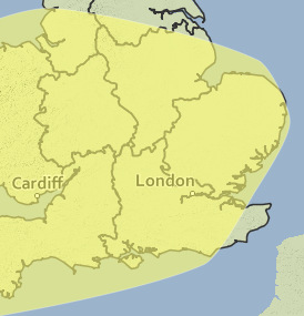 The Met office has issued a yellow rather warning for rain for Wednesday and Thursday.