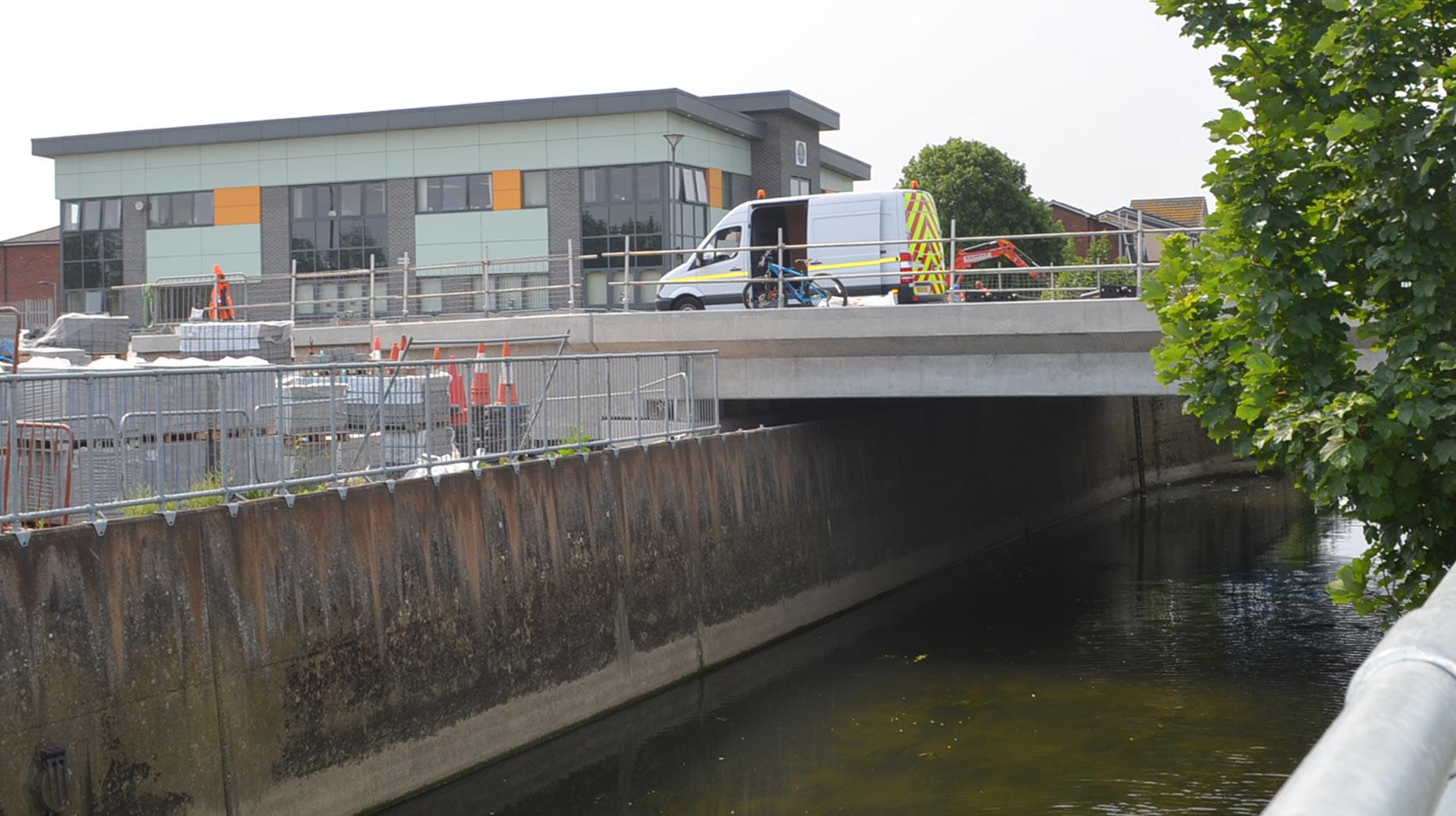 The road bridge will open on June 13.