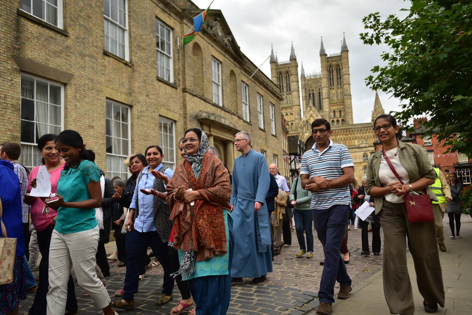 Lincoln residents took part in a peace walk on July 25 to promote togetherness and tolerance. Photo: Steve Smailes for The Lincolnite