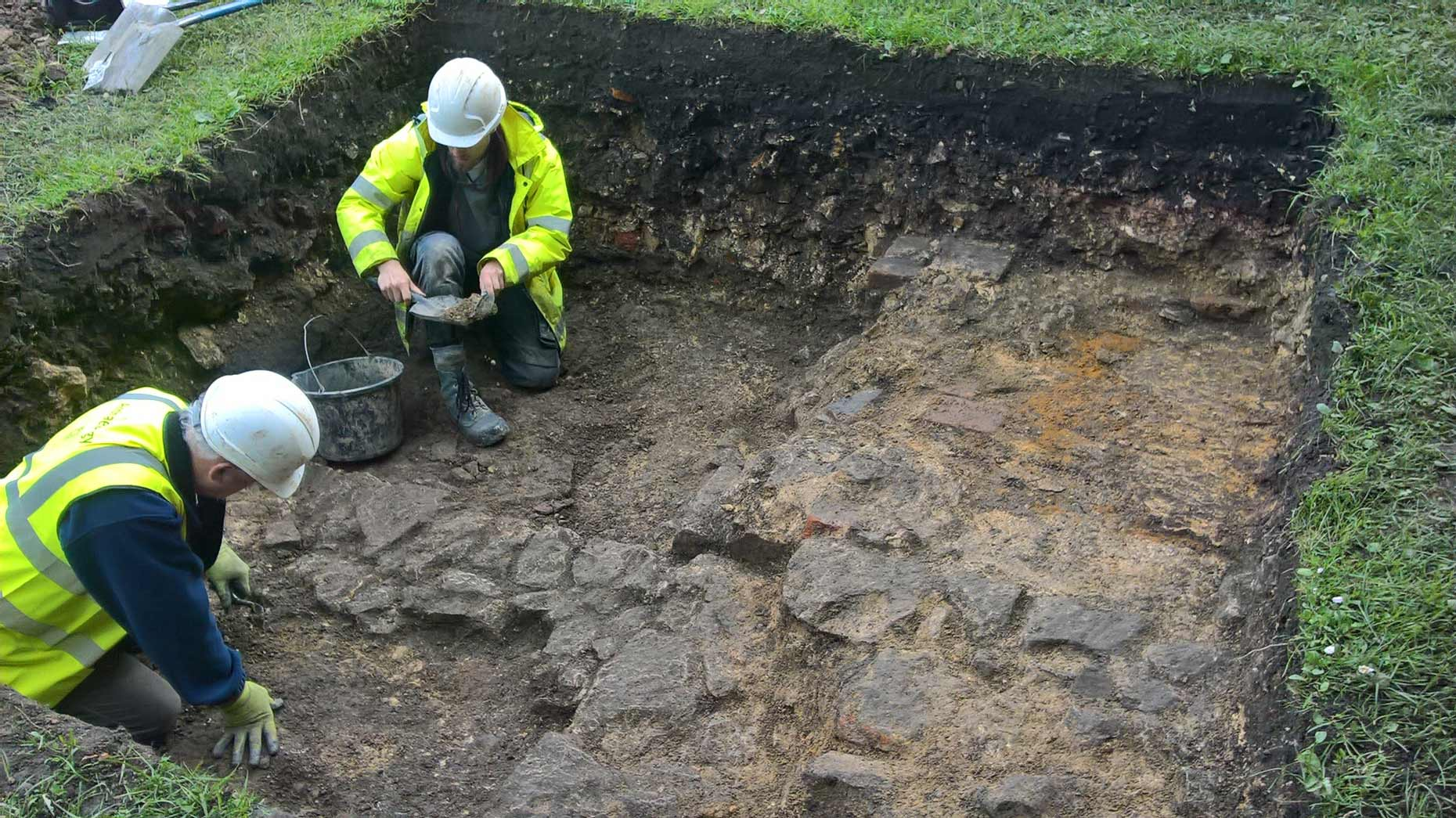 A recent dig was carried out by Lincoln firm Allen Archeology.