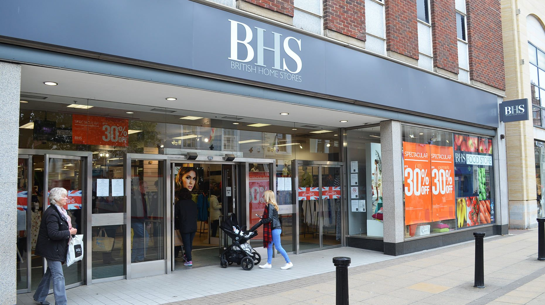 BHS on Lincoln High Street. Photo: Lincolnshire Reporter