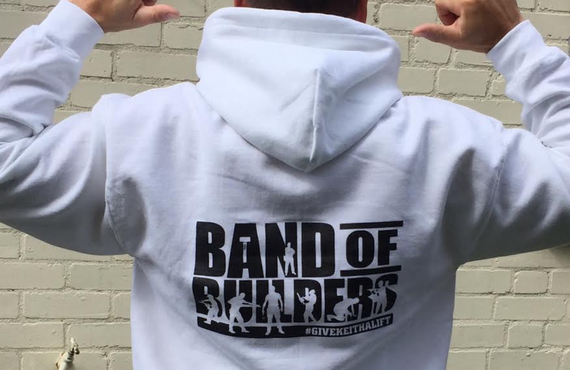 Work colleagues are selling Band of Builders t-shirts and hoodies to raise money for Keith.