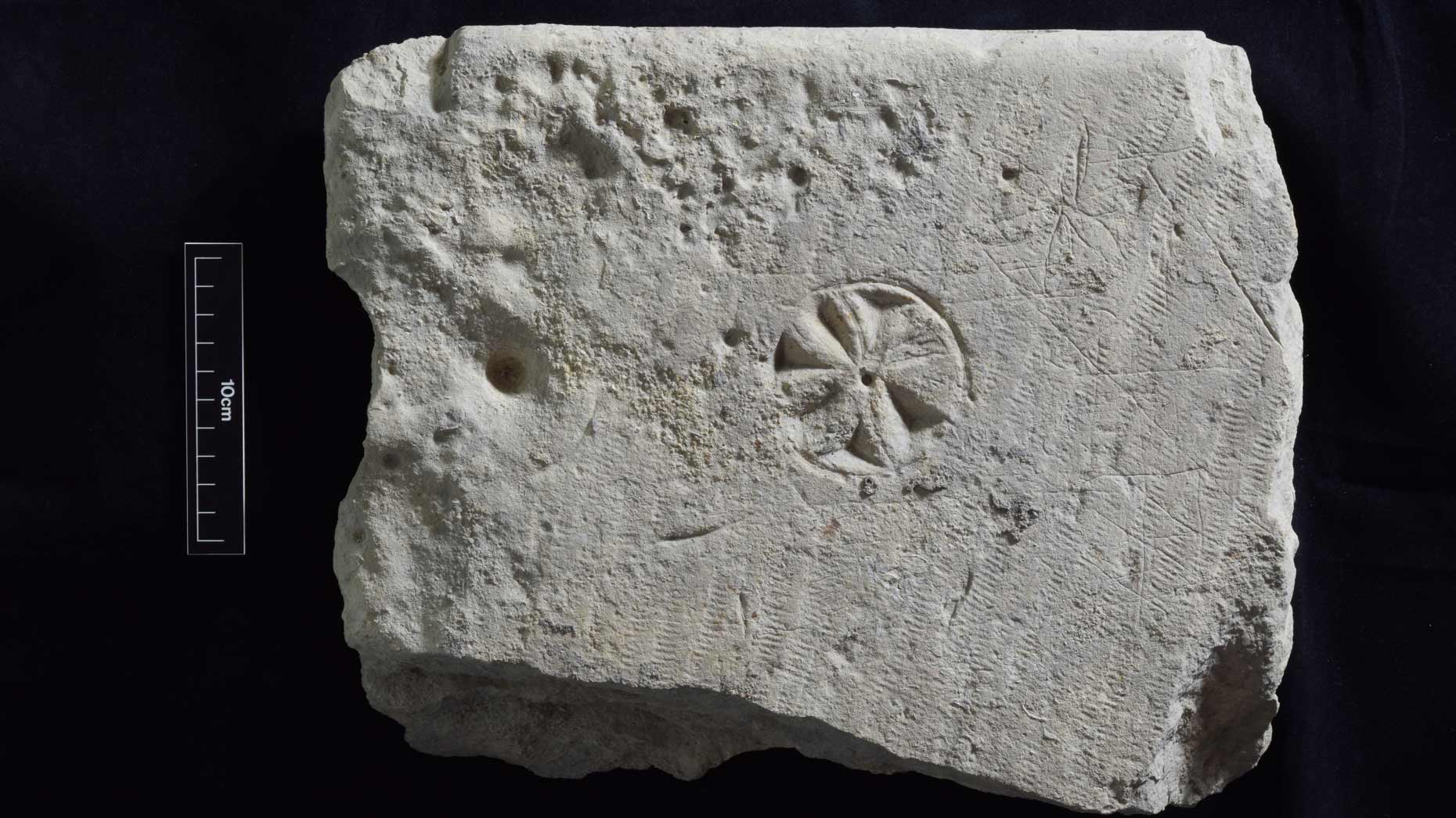 The medieval graffiti is very different to what you'd think of as graffiti today.