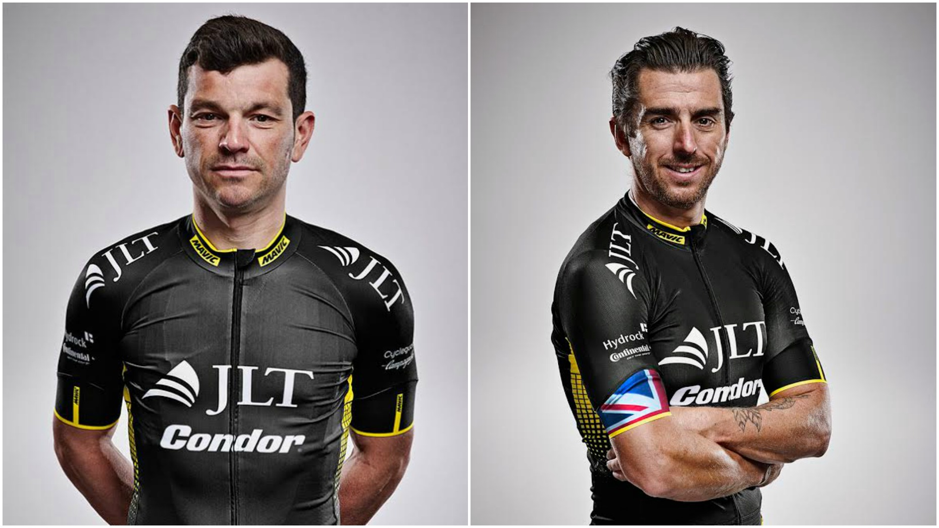 Pros Graham Briggs (left) and Russell Downing will be at the cycling event.