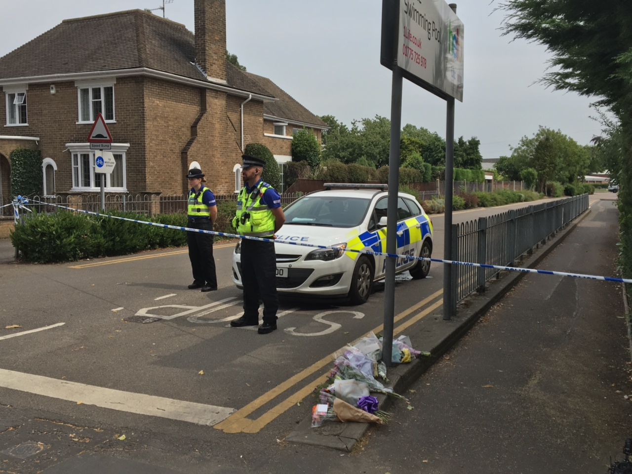 A police cordon remains in place on Wednesday, July 20.