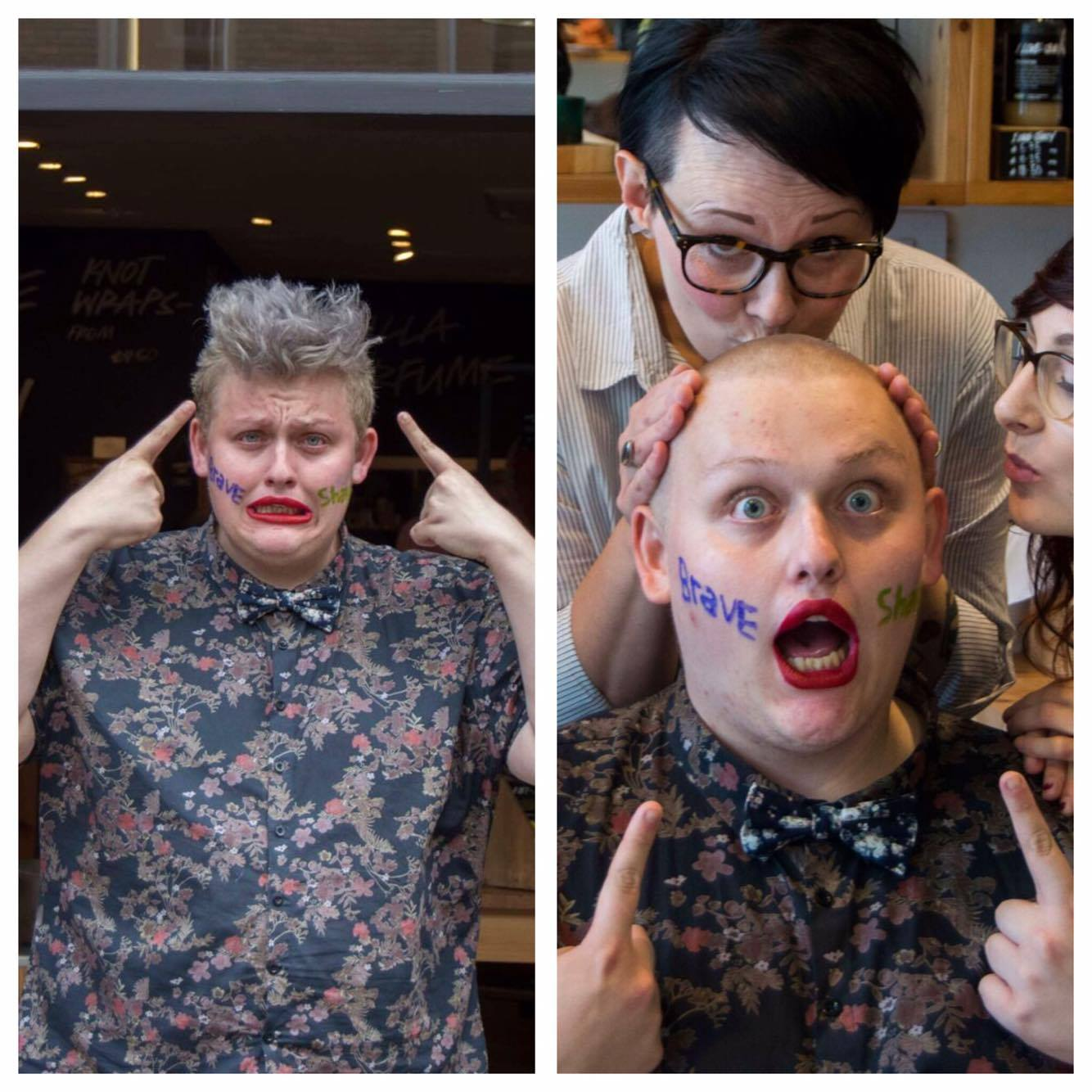 Jay sacrificed his hairdo to raise money for cancer research. Here's the before and after.