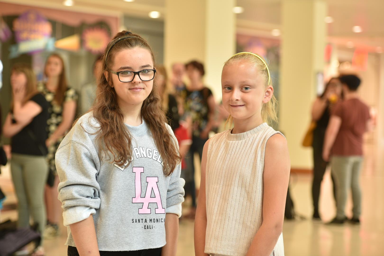 Singing duo Tilly Cooper, 10 and Jodie State, 12. Photo: Steve Smailes for The Lincolnite