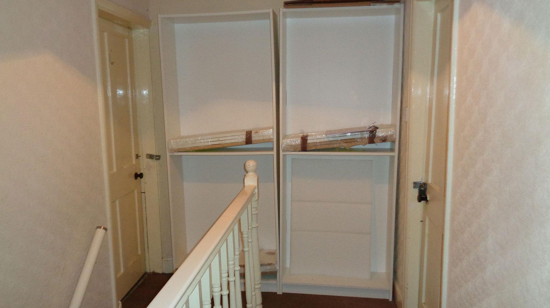 Furniture was blocking doorways in the house.