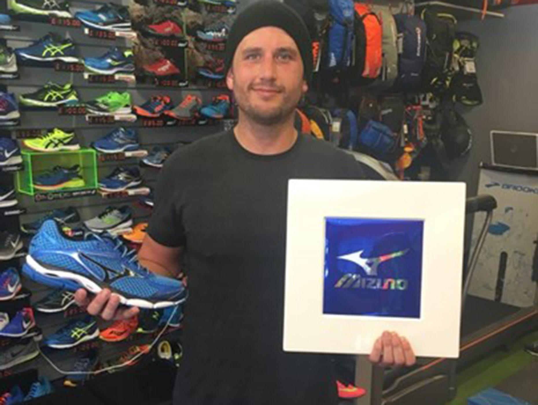 Adam Hill in preparation for the 2016 Lincoln half marathon