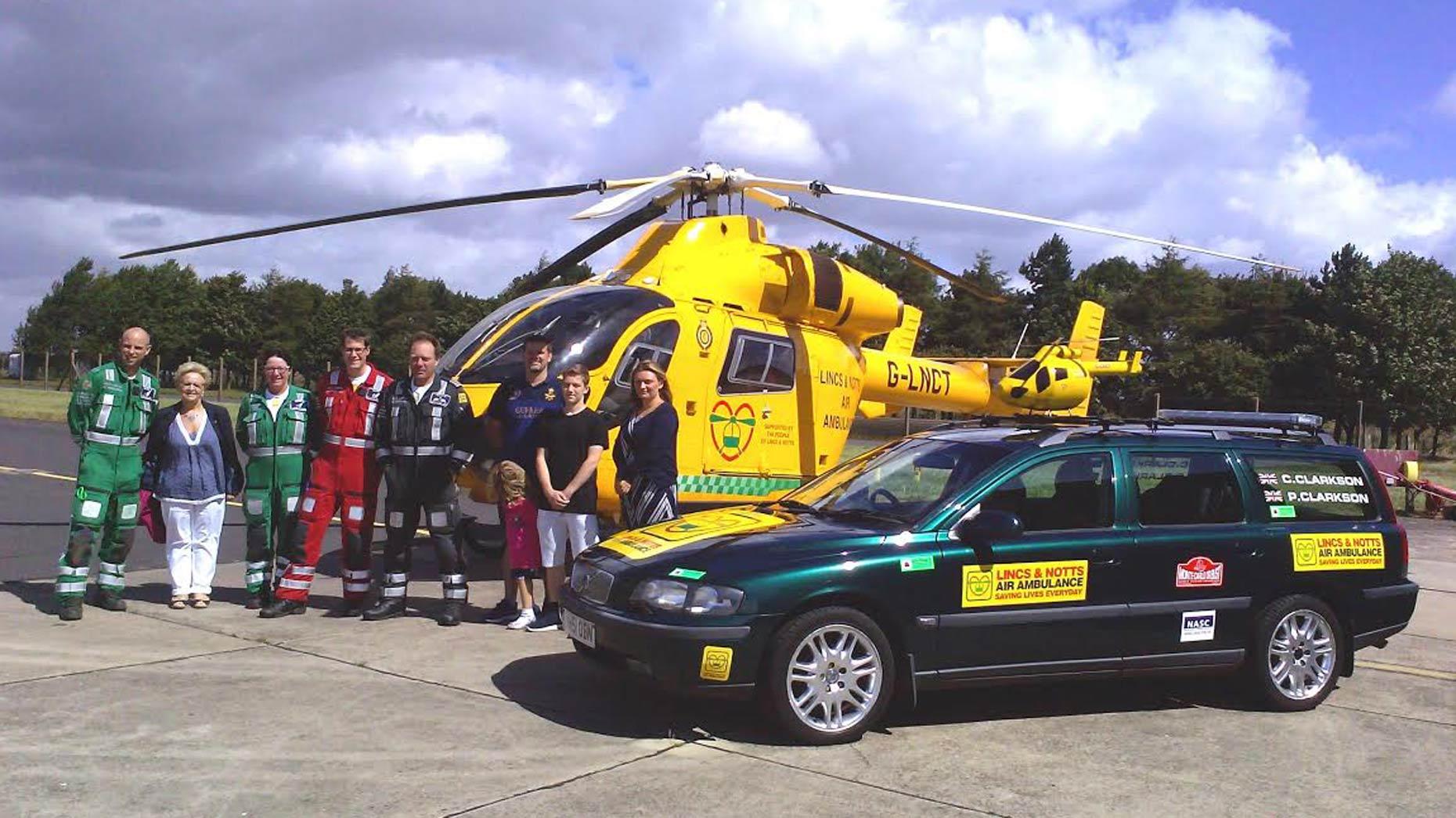 Clarkson family with LNAA crew