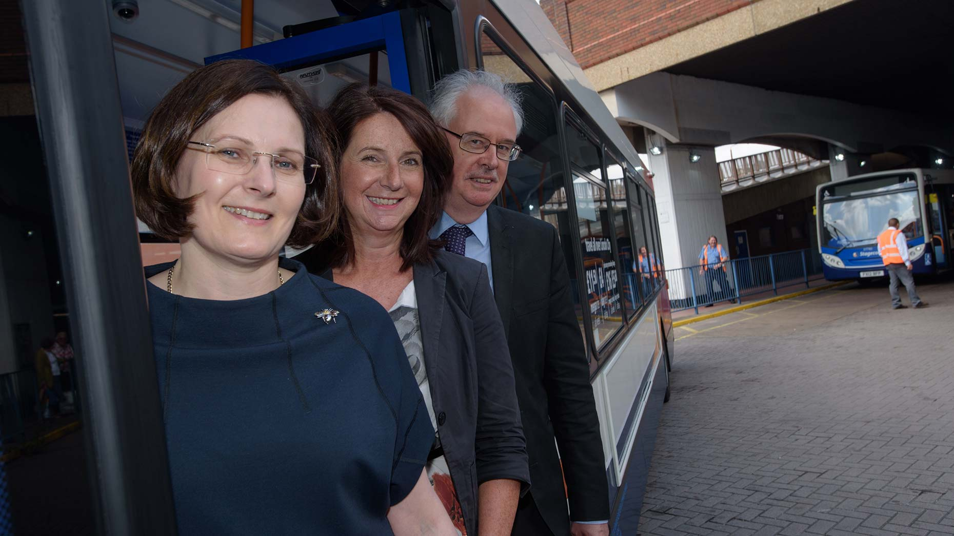 Left to right: Ursula Lidbetter, chief executive of Lincolnshire Co-op; Angela Andrews, chief executive of City of Lincoln Council; Councillor Donald Nannestad, deputy leader of City of Lincoln Council. Photo: Steve Smailes for The Lincolnite