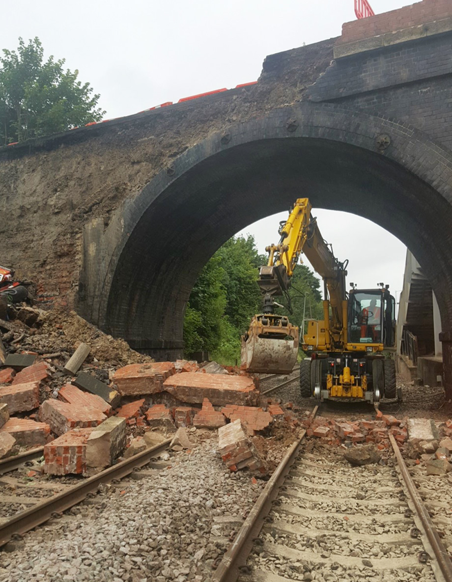Network Rail are still on the scene (4pm) working to clear the blocked line.